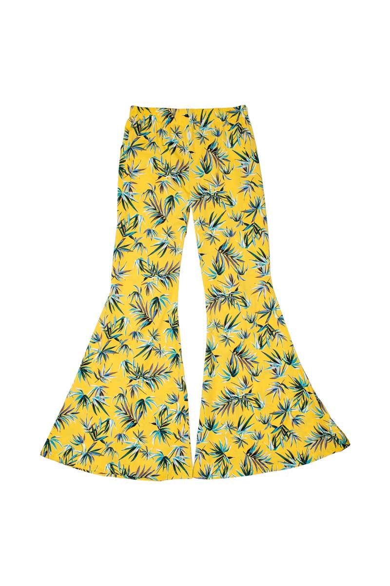Pantalone in cotone con ampia zampa